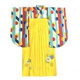 着物:よろこび朱 / 袴:レモン花刺繍95